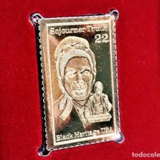 Sellos: SELLO DE ORO 22.KT. SOJOURNER TRUTH BLACK HERITAGE SERIES 1986 - 40 X 25.MM. Lote 220894087
