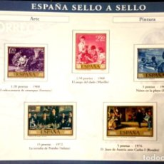 Sellos: HOJA A-03 A-3 ESPAÑA SELLO A SELLO - COLECCION EL PAIS AÑO 2003 - ARTE Y PINTURA. Lote 221288235