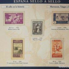 Sellos: HOJA H-16 ESPAÑA SELLO A SELLO - COLECCION EL PAIS AÑO 2003 - HISTORIA MARRUECOS TANGER E IFNI. Lote 221295145