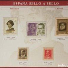 Sellos: HOJA P-06 P-6 ESPAÑA SELLO A SELLO - COLECCION EL PAIS AÑO 2003 - PERSONAJES LITERATOS. Lote 221300516