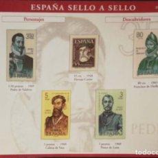 Sellos: HOJA P-07 P-7 ESPAÑA SELLO A SELLO - COLECCION EL PAIS AÑO 2003 - PERSONAJES DESCUBRIDORES. Lote 221300671