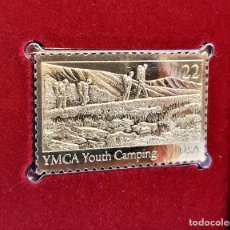 Sellos: SELLO DE ORO 22.KT. YOUTH ORGANIZATIONS YMCA YOUTH CAMPING 1985 - 40 X 25.MM. Lote 221373731