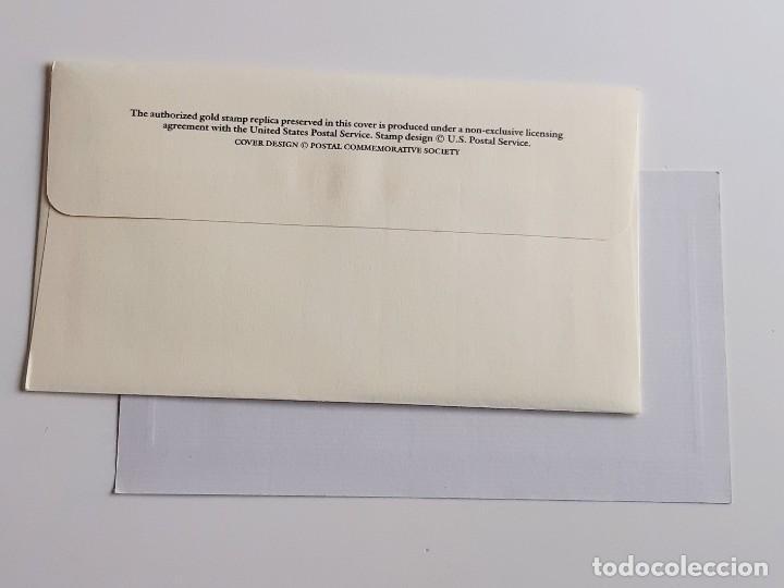 Sellos: SELLO DE ORO 22.KT. THOMAS JEFFERSON 250TH ANNIVERSARY OF HIS BIRTH 1993 - 22 X 25.MM - Foto 6 - 221511037