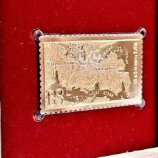 Sellos: SELLO DE ORO 22.KT. BATTLE OF YORKTOWN 200TH ANNIVERSARY 1981 - 40 X 25.MM. Lote 221511185