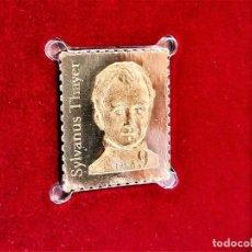 Sellos: SELLO DE ORO 22.KT. SYLVANUS THAYER 200TH ANNIVERSARY OF BIRTH 1985 - 21 X 25.MM. Lote 221621661