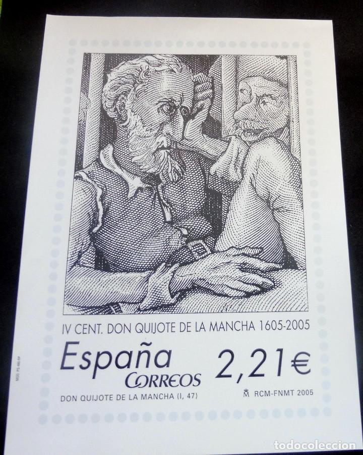 ESPAÑA - 2005 - LAMINA IV VENT. DON QUIJOTE DE LA MANCHA - EDIT. EN CARTULINA POR CORREOS EN FNMT - (Filatelia - Sellos - Reproducciones)