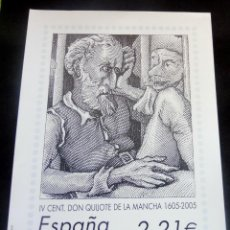 Sellos: ESPAÑA - 2005 - LAMINA IV VENT. DON QUIJOTE DE LA MANCHA - EDIT. EN CARTULINA POR CORREOS EN FNMT -. Lote 221859106