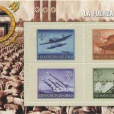 Sellos: REPRODUCCIÓN HOJA BLOQUE LA FUERZA DE HITLER. 70 ANIVERSARIO II GUERRA MUNDIAL SELLO-647. Lote 222441852