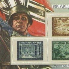 Sellos: REPRODUCCIÓN HOJA BLOQUE PROPAGANDA NAZI. 70 ANIVERSARIO II GUERRA MUNDIAL. SELLO-650. Lote 222461926