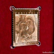 Sellos: SELLO DE ORO 22.KT. CHRISTMAS 1997 MADONNA AND CHILD 1997 - 24 X 31.MM. Lote 222504268