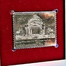 Sellos: SELLO DE ORO 22.KT. AMERICAN ARCHITECTURE NYU LIBRARY NEW YORK 1981 - 40 X 31.MM. Lote 222601612