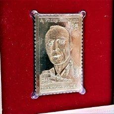 Sellos: SELLO DE ORO 22.KT. A. PHILIP RANDOLPH BLACK HERITAGE SERIES 1989 - 40 X 25.MM. Lote 222602072
