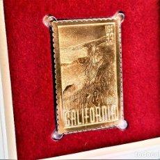 Sellos: SELLO DE ORO 22.KT. CALIFORNIA ATATEHOOD 150TH ANNIVERSARY 2000 - 40 X 25.MM. Lote 237358000