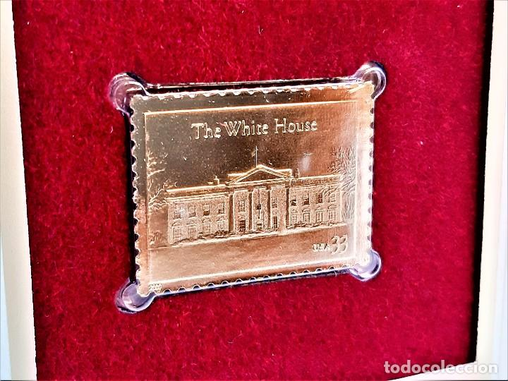 SELLO DE ORO 22.KT. THE WHITE HOUSE 200TH ANNIVERSARY 2000 - 30 X 23.MM (Filatelia - Sellos - Reproducciones)