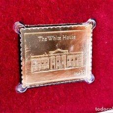 Timbres: SELLO DE ORO 22.KT. THE WHITE HOUSE 200TH ANNIVERSARY 2000 - 30 X 23.MM. Lote 225034150
