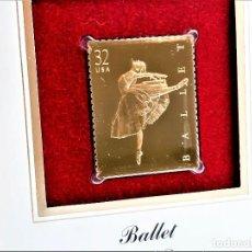 Timbres: SELLO DE ORO 22.KT. BALLET CLASSICAL DANCE 1998 - 40 X 31.MM. Lote 225035148