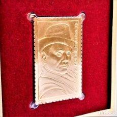 Francobolli: SELLO DE ORO 22.KT. EDWARD G. ROBINSON LEGENDS OF HOLLYWOOD 2000 - 40 X 25.MM. Lote 225155270