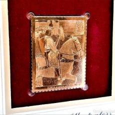 Francobolli: SELLO DE ORO 22.KT. AMERICAN ILLUSTRATORS EDWIN AUSTIN ABBEY 2001 - 40 X 31.MM. Lote 225155360