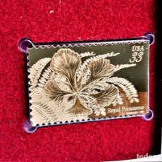 Sellos: SELLO DE ORO 22.KT. TROPICAL FLOWERS ROYAL POINCIANA 1999 - 40 X 25.MM. Lote 237359155