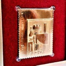 Francobolli: SELLO DE ORO 22.KT. LOUISE NEVELSON BLACK CHORD 2000 - 40 X 31.MM. Lote 225589613