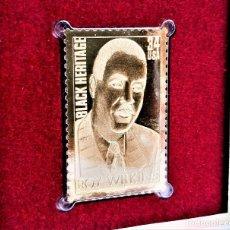 Francobolli: SELLO DE ORO 22.KT. ROY WILKINS BLACK HERITAGE SERIES 2001 - 40 X 25.MM. Lote 225595265