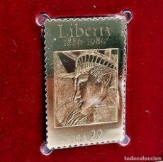 Timbres: SELLO DE ORO 22.KT. STATUE OF LIBERTY 100TH ANNIVERSARY 1986 - 40 X 25.MM. Lote 229120135