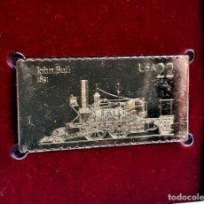 Timbres: SELLO DE ORO 22.KT. LOCOMOTIVES JOHN BULL 1987 - 40 X 25.MM. Lote 230090500