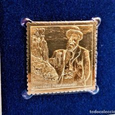 Timbres: SELLO DE ORO 22.KT. CELEBRATE THE CENTURY 1900-1909 JOHN MUIR, PRESERVATIONIST 1998 - 31 X 31.MM. Lote 230599745