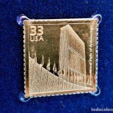 Timbres: SELLO DE ORO 22.KT. CELEBRATE THE CENTURY 1940-1949 INTERNATIONAL STYLE OF ARCHITECTURE - 40 X 30.MM. Lote 230923630