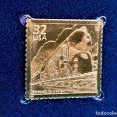 Timbres: SELLO DE ORO 22.KT. CELEBRATE THE CENTURY 1930-1939 STREAMLINE DESING 1998 - 40 X 30.MM. Lote 230924075