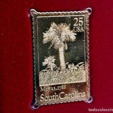 Timbres: SELLO DE ORO 22.KT. SOUTH CAROLINA STATEHOOD 200TH ANNIVERSARY 1988 - 40 X 25.MM. Lote 231673720