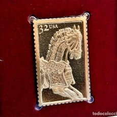 Timbres: SELLO DE ORO 22.KT. CAROUSEL HORSES ARMORED JUMPER 1995 - 25 X 45.MM. Lote 232361995