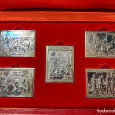 Selos: COLECCION DE LAS OBRAS MAESTRAS DE VELAZQUEZ. 5 SELLOS EN PLATA.. Lote 232382330