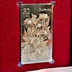 Timbres: SELLO DE ORO 22.KT. FALL GARDEN FLOWERS RUDBECKIA 1995 - 25 X 45.MM. Lote 232895075