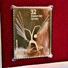 Timbres: SELLO DE ORO 22.KT. ALEXANDER CALDER UN EFFET DU JAPONAIS 1998 - 31 X 39.MM. Lote 233450605
