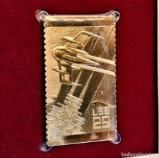 Timbres: SELLO DE ORO 22.KT. SPACE FANTASY SPACE STATION 1993 - 25 X 45.MM. Lote 233450895