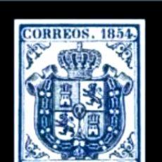 Sellos: EDIFIL Nº34 REPLICA.AZUL OSCURO 1R.NUEVO.ISABEL II DE 1850 A 1869. Lote 233591185