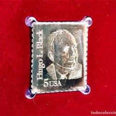 Sellos: SELLO DE ORO 22.KT. HUGO L BLACK 100TH ANNIVERSARY OF BIRTH 1986 - 25 X 21.MM. Lote 236043890
