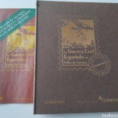 Sellos: LA GUERRA CIVIL ESPAÑOLA EN SELLOS DE CORREOS. EL MUNDO. SETENTA HOJAS BLOQUE. INCOMPLETO.. Lote 236093775