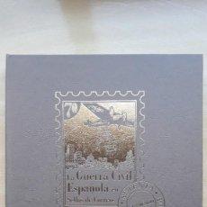 Timbres: ALBUM LA GUERRA CIVIL ESPAÑOLA EN SELLOS DE CORREOS / EL MUNDO / 2004 / COMPLETO. Lote 236948190