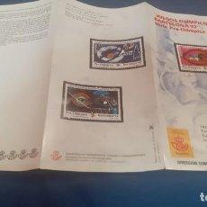 Sellos: TRIPTICO DE LA DIRECCION DE CORREOS Y TELEGRAFOS DE LA EMISION DE SELLOS PREOLIMPICOS. Lote 238364930
