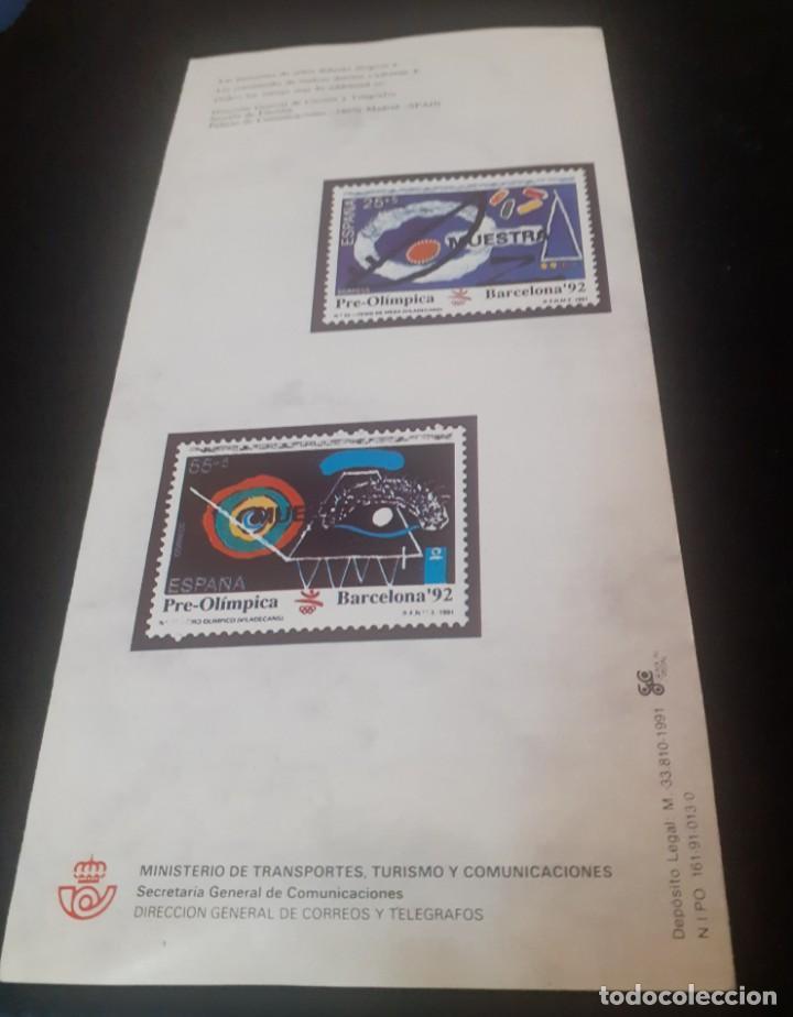 Sellos: triptico de la Direccion de Correos y telegrafos de la emision de sellos Preolimpicos - Foto 2 - 238364930