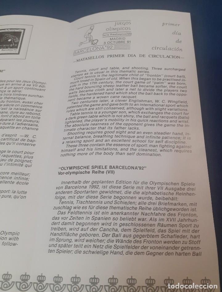 Sellos: triptico de la Direccion de Correos y telegrafos de la emision de sellos Preolimpicos - Foto 3 - 238364930