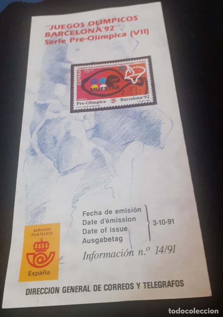 Sellos: triptico de la Direccion de Correos y telegrafos de la emision de sellos Preolimpicos - Foto 4 - 238364930