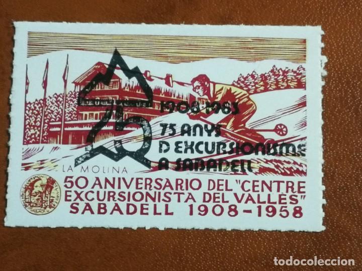 VIÑETA 50 ANIVERSARIO CENTRE EXCURSIONISTA DEL VALLES 1958 (Filatelia - Sellos - Reproducciones)