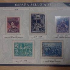 Timbres: ESPAÑA SELLO A SELLO. LÁMINA HOJA A-1. Lote 240128925