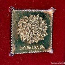 Selos: SELLO DE ORO 22.KT. FLOWERS DAHLIA 1981 - 32 X 31.MM. Lote 241310665