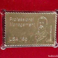 Selos: SELLO DE ORO 22.KT. PROFESSIONAL MANAGEMENT WARTON SCHOOL 1981 - 25 X 40.MM. Lote 241432785