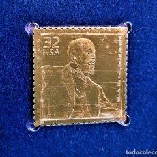 Selos: SELLO DE ORO 22.KT. CELEBRATE THE CENTURY 1900-1909 W.E.B. DU BOIS, SOCIAL ACTIVIST 1998- 32 X 31.MM. Lote 242343105