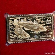 Selos: SELLO DE ORO 22.KT. FISH ATLANTIC COD 1986 - 40 X 25.MM. Lote 242343215